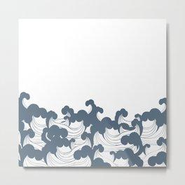 Japanesse Wave Metal Print