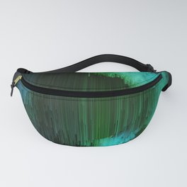 Aurora Borealis - Abstract Glitchy Pixel Art Fanny Pack