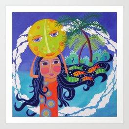 Luna and Me, Dream of the Sea Art Print