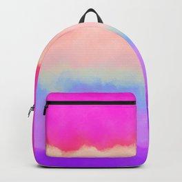 Modern girly pink magenta violet lavender watercolor stripes Backpack