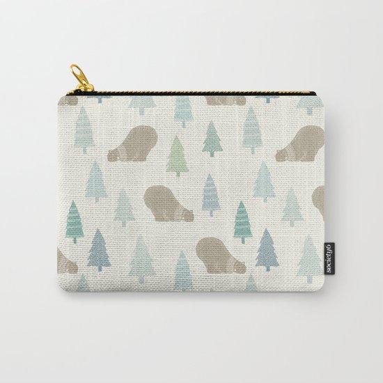 Merry Christmas Polar bear - Animal pattern Carry-All Pouch