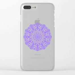 Mandala 12 / 4 eden spirit purple Clear iPhone Case