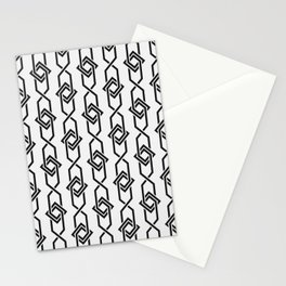 Japanese yukata geometric line pattern in grey Stationery Cards