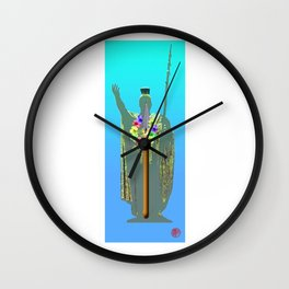 Kamehamea Spear Lei Wall Clock