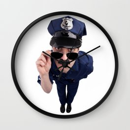 Curious Cop Wall Clock