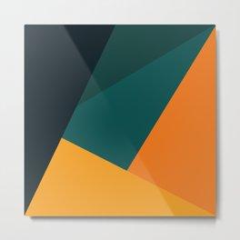 Orange Greens #1 Metal Print