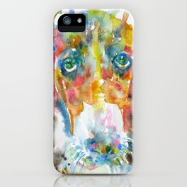BASSET HOUND watercolor portrait.2 iPhone Case