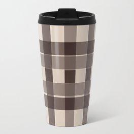 Brown Squares Travel Mug