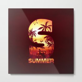 S for Summer Metal Print