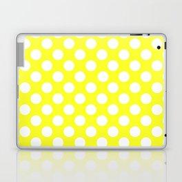 Yellow With Large White Polka Dots Laptop & iPad Skin