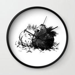 Chocobo Black Chick Wall Clock
