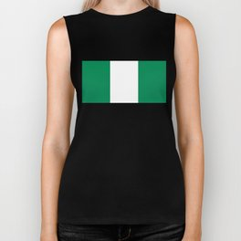 Flag of Nigeria - Authentic High Quality image Biker Tank