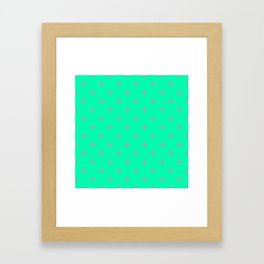 Ornamental Pattern with Mint and Grey Colourway Framed Art Print