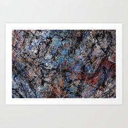 Number 1 Abstract Painting by Mark Compton Art Print
