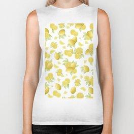 Summer Lemon Twist #1 #tropical #fruit #decor #art #society6 Biker Tank