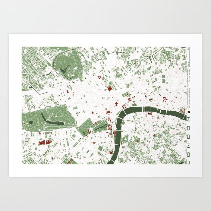 London City Map Printable.London City Map Minimal Art Print