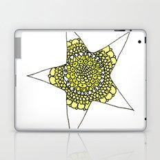 Yellow Superstar Mandala Star Laptop & iPad Skin
