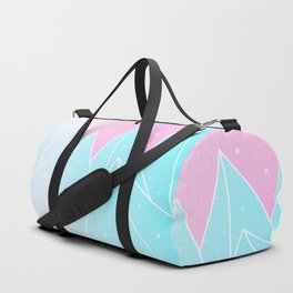 Sparkly Blue Crystals Design Duffle Bag