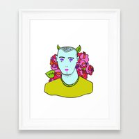 evil Framed Art Prints featuring Evil by fantagie
