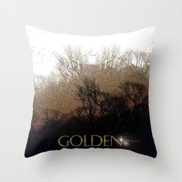 Golden Forest Throw Pillow