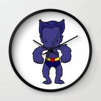 beast Wall Clocks featuring BEAST by Space Bat designs