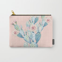 Rose Desert Cactus on Pink by Nature Magick Carry-All Pouch