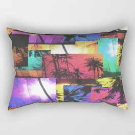 Tree Patterns with Sunset Rectangular Pillow
