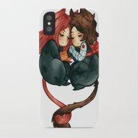 bucky iPhone & iPod Cases featuring bucky & natasha by cynamon