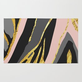 Gold and pale river Rug
