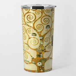 Gustav Klimt The Tree Of Life Travel Mug
