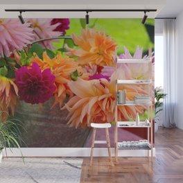 Bucket of Flowers  Wall Mural