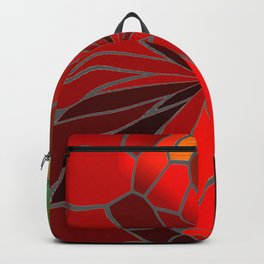 Abstract Poinsettia Backpack