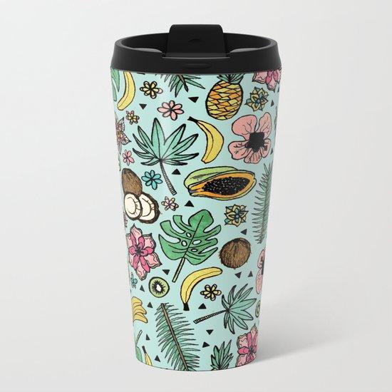 Tropical Fiesta Metal Travel Mug