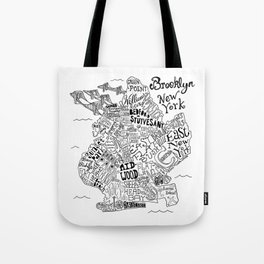Brooklyn Map Tote Bag