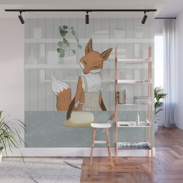 Cheese Time of Day in Fox\'s Kitchen Wall Mural by runcatrun