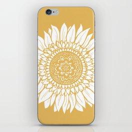 Yellow Sunflower Drawing iPhone Skin