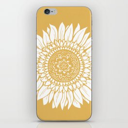 Yellow Sunflower Drawing iPhone Skin