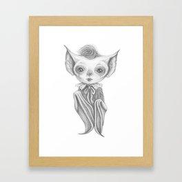 Little Vampire Bat Framed Art Print