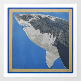 Fool Like You For Breakfast- Great White Shark Art Print
