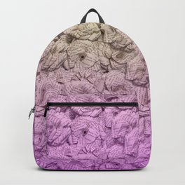 Bright Purple Ombre Book Flowers Backpack