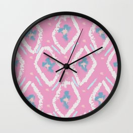 Ikat 4 Wall Clock