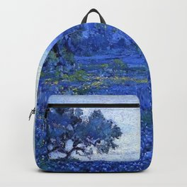 Bluebonnet pastoral scene landscape painting by Robert Julian Onderdonk Backpack