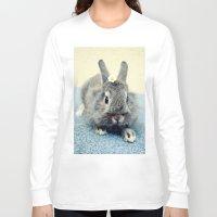 bunny Long Sleeve T-shirts featuring Bunny by Falko Follert Art-FF77