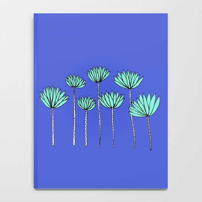 Blue and Turquoise Tropical Plants Notebook Notebook