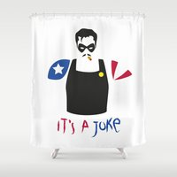 watchmen Shower Curtains featuring [ Watchmen ] The Comedian by Vyles