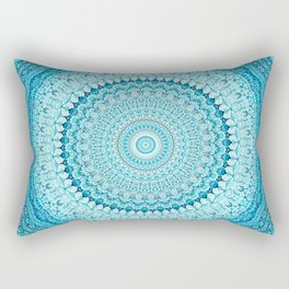 Coastal Spray Mandala Rectangular Pillow