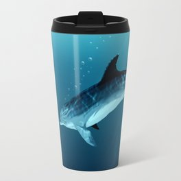 """Blackfin the Dolphin"" by Amber Marine ~ Digital Art, (Copyright 2014) Travel Mug"
