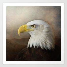 The noble Bald Eagle Art Print