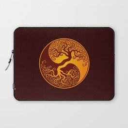Red and Yellow Tree of Life Yin Yang Laptop Sleeve