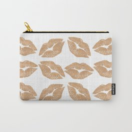 Rose Gold Lips Heart with Lips Carry-All Pouch
